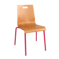 Beech and Pink Madeline Chair