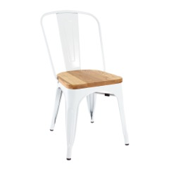 Brumby's Chair White with Timber