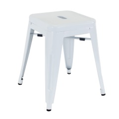 Small White Stool 46cm